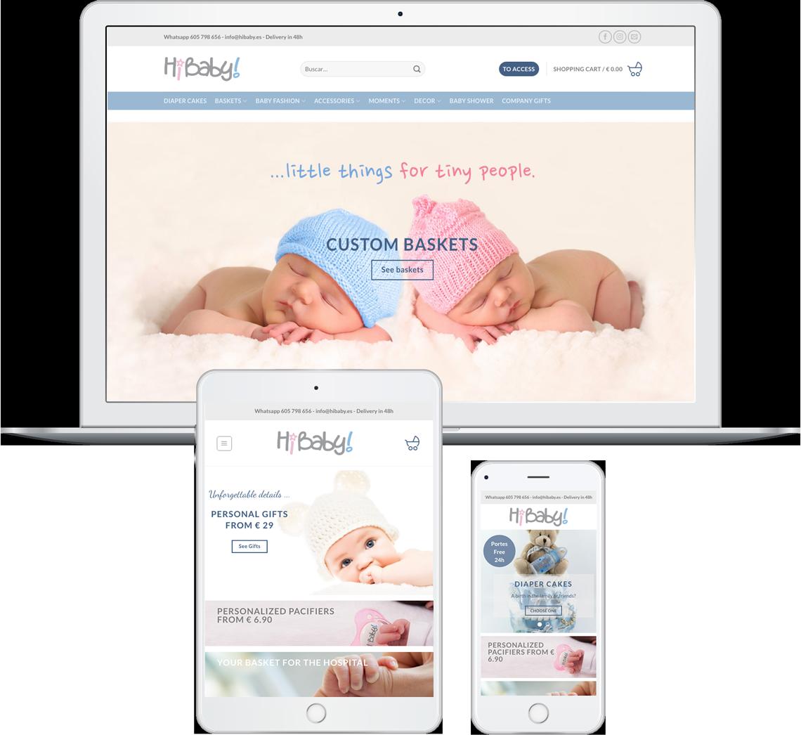 Brandall Agency Hi Baby Website Design