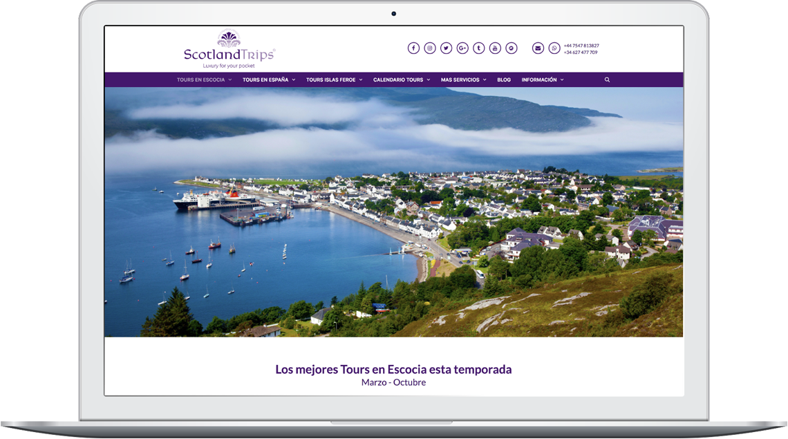 Brandall Agency ScotlandTrips Website