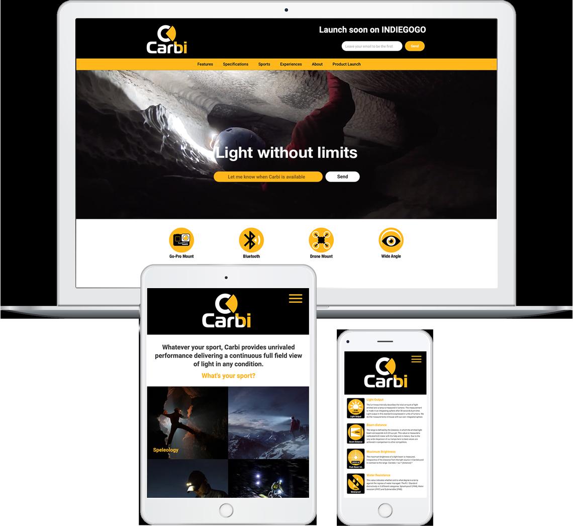 Brandall Agency Carbi Website Design