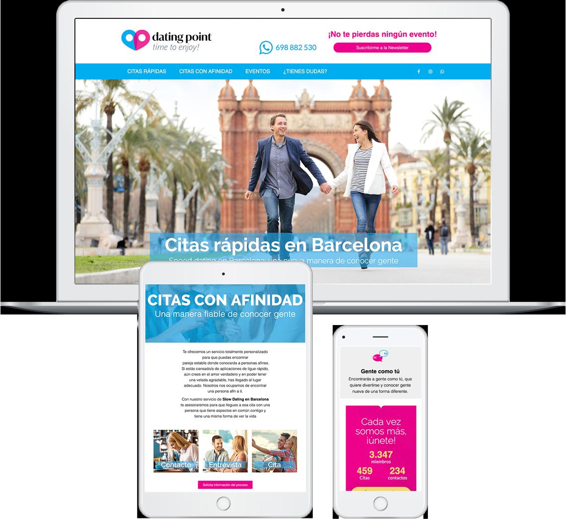 Brandall Agency Dating Point Website Design