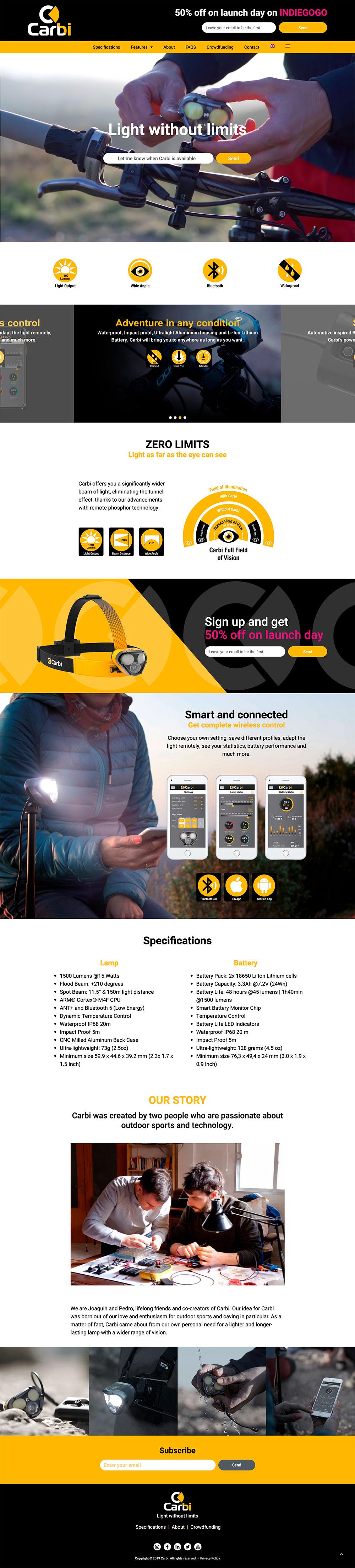 Brandall Agency Carbi Website Page Design